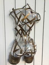 Metal Wall Art Torso Abstract Modern Female Sculpture Nude Torso by Holly Lentz
