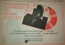 CHRIS REA Benny Santini 1978 UK  Press ADVERT 12x8""