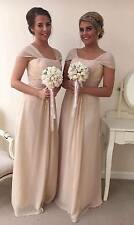 CHIFFON BRIDESMAID DRESS WEDDING PARTY PROM FORMAL EVENING DRESS FLOOR LENGTH