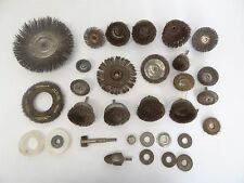Mixed Vintage Lot Wire Brush Power Tool Head Attachments Polishing Tools Parts