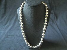 """TH-13 Mexico Sterling Silver 925 Squash Blossom Style Beaded Necklace 24"""""""