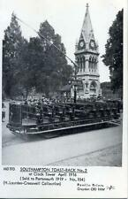 Pamlin repro photo postcard M3193 Toast rack Tram Car Clock Tower Southampton