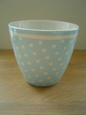 GreenGate Polka Dot Latte Cup in Spot Pale Blue