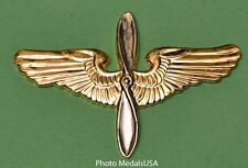 Aviation Cadet Army Air Corps Hat Badge -AAF 2 5/8""