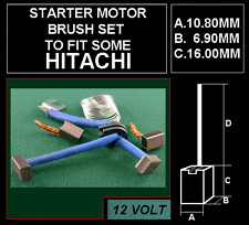 STARTER MOTOR BRUSHES BRUSH SET TO FIT MANY  HITACHI  UNITS 12VOLT