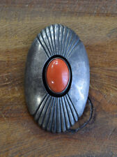 Vintage Sterling Silver And Coral Pendant By Jesse Monongye