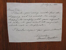 CLARENCE  MARSHALL (Died in 2007)New York Yankees Signed PERSONAL Note/Letter