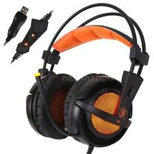Sades A6 Professional USB Gaming Headphone Game Headset with Microphone Mic LED