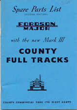 Ford County Mk 3 with Mk4 supplement parts catalogue photocopy