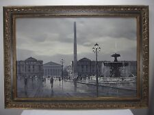 A. Coppola Signed Oil on Canvas Painting Place de la Concorde Paris France