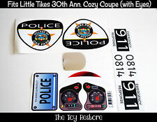 Custom Police Car Replacement Decal Stickers fits 30th Little Tikes Cozy Coupe