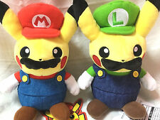 ✨ Pokemon Center Original Mario & Luigi Pikachu Special plush dolls set Japan ✨