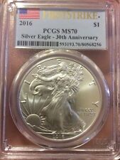 2016 1 oz Silver American Eagle PCGS MS 70 First Strike. Collector Coin For You