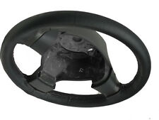 FITS SUZUKI SX4 06-11 BLACK PERFORATED LEATHER STEERING WHEEL COVER GREY STITCH