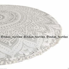 "Large Mandala Floor Pillows 32"" Round Meditation Cushion Cover Ottoman Poufs_a7"