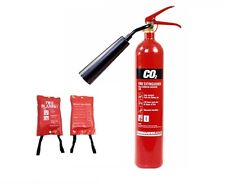 NEW 5kg CO2 FIRE EXTINGUISHER WITH A FIRE BLANKET, SIZE 1M X 1M.