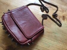 Deena & Ozzy Urban Outfitters Brown Spike Purse Punk w. Chain Strap Small Bag