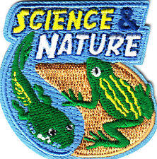 """SCIENCE & NATURE "" - Iron On Embroidered Applique Patch/School, Learning"