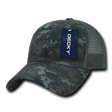 ACU Digital Camo Mesh Trucker Structured 6 Panel Decky Hat Curved Ball Cap