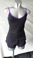 Camisole & shorts set, 2pc Sleep Set Blk/Pur 2pc S, M, L Rock Chic, Gothic