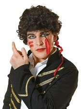 1980s 80s Adam Ant Wig Fancy Dress Costume Accessory Mens Adult P6375