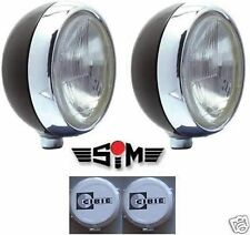 "NEW SIM STAINLESS STEEL CHROME 7"" CIBIE OSCAR H4 SPOT/DRIVING/FOG LAMPS/LIGHT"