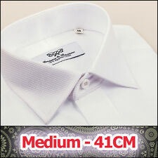 2x Mens White Luxury Marcella Formal Business Dress Shirts Sell as Lot Hot Set