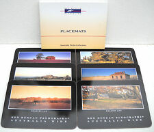 """KEN DUNCAN """"AUSTRALIA WIDE COLLECTION"""" PLACEMATS - SET OF 6 CORK-BACKED BY JASON"""