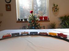 HO TYCO SMALL SANTA FE  ELECTRIC TRAIN SET UNDER CHRISTMAS TREE PRESENT TOOT!