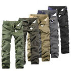 Combat Men's Cotton Cargo ARMY Pants Military Camouflage Camo Trousers 32 34 36