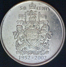 1952-2002-P Canada 50 Cent Coin