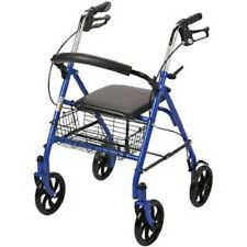 "Drive Medical Rollator Walker Adult Senior with 4 Wheel 7.5"" Casters Blue"