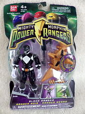 Mighty Morphin Power rangers Bandai 2009 figurine neuve s/blister BLACK RANGER