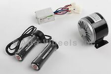 300 W 24 V DC electric motor kit w speed controller & Twist Throttle