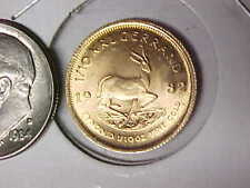 1982 Krugerrand 1/10 Ounce Gold Uncirculated South Africa BU Gold Coin