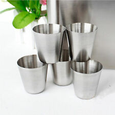 35ml Stainless Steel Shot Glasses Barware Wine Drinking GlassCup Silver WF