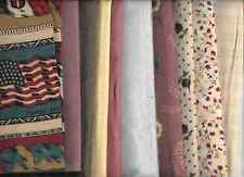 TEN QUARTERS OF 100% SOFT  COTTON AND FLANNEL QUILTING FABRIC