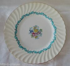 MINTON bone china ARDMORE #5363 Dinner Plate white  floral turquoise gold rim #6