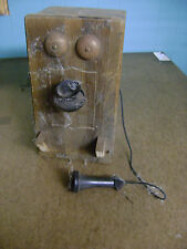 HALLOWEEN PROP HAUNTED HOUSE ANTIQUE SPOOKY OLD TELEPHONE WALL PHONE