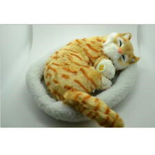 Cat Kitty Simulation Plush Breath Toy Very Soft Snore Lifelike Birthday Gift ^
