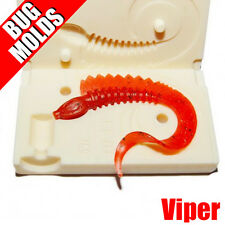 Soft Lure Mold Viper 2,4 inch Twister Grub Worm Bugmolds for Plastisol