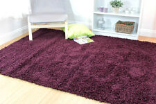 Modern Thick Soft Shaggy Rug in Various Colours Small Large Runner Round Carpet