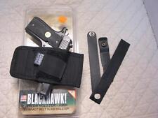 #01 BLACKHAWK Nylon Belt Slide Gun Holster WALTHER PPK RAVEN .25 BERETTA Tomcat