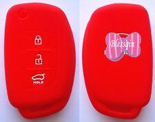 RED SILICONE CAR FLIP KEY COVER FOR HYUNDAI i10 i20 i30 IX35 ELANTRA ACCENT
