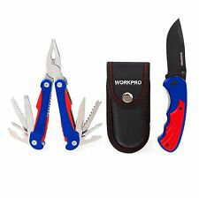 WORKPRO 3PC Outdoor Multi Tool Pliers Knife Portable Pocket Foldaway Camping Kit