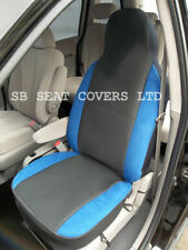 NISSAN FIGARO CAR SEAT COVERS ANTHRACITE + BLUE BOLSTERS 2 FRONTS