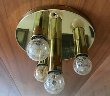 Messing Sputnik Lampe Design 70er Lamp 4 Bulbs 60s 70s Brass goldfarbend