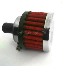 15mm Intake Car Red Fine Mesh Air Breather Filter Chrome Sports Performance NEW