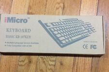 NEW MICRO BASIC KEYBOARD KB 107KEY BLACK