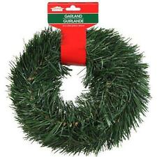 CHRISTMAS PINE GARLAND ARTIFICIAL PINE 15 FEET WIRED XMAS DECORATION SHIPS FREE